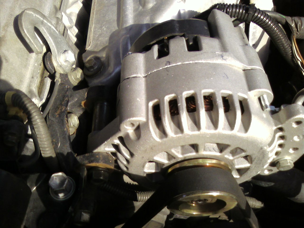 High Output Alternators And Accessories 1996 Toyota Camry Alternator Wiring Simple Installation On 2001 22l Customer Made Two Spacers Ended Up With An Easy Bolt For His