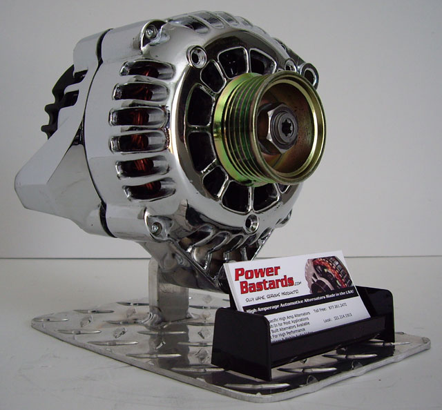 Chrome High Output Alternators