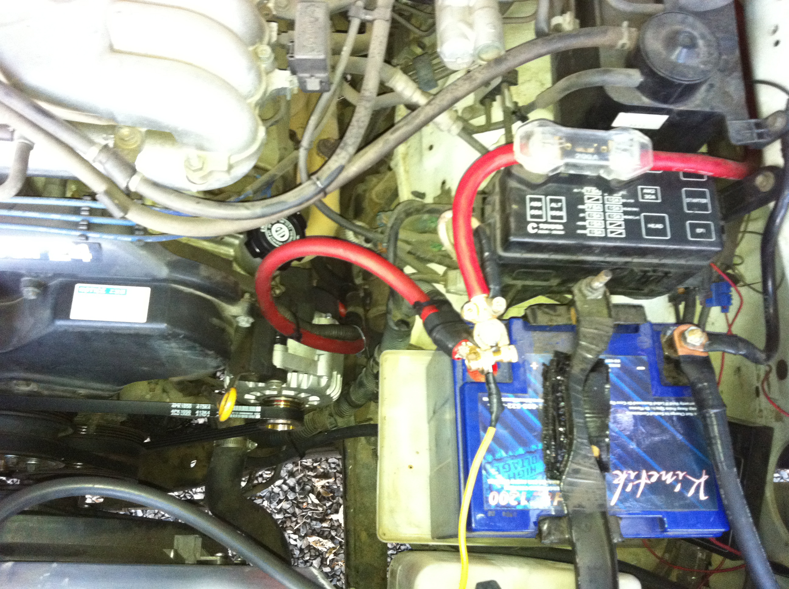 High Output Alternators And Accessories Dual Alternator Wiring Installation Details From The Customer 1996 Toyota 4 Runner 34ltr 5vzfe With 16inch Electric Fan Car Stereo2600watts Continuous Was